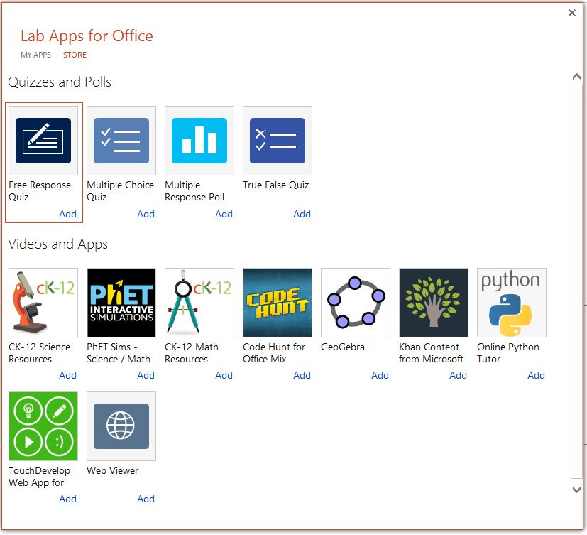 Office Mix Apps